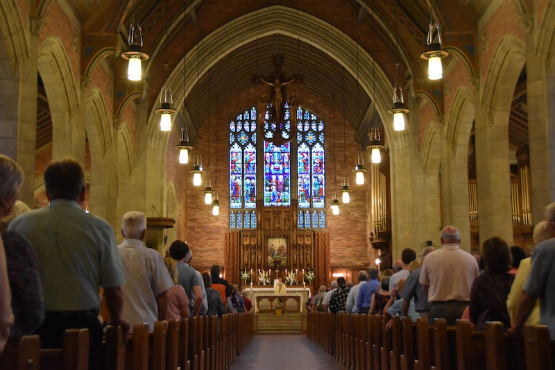Looking back and ahead, final parish Masses celebrated in Oswego