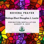 Novena Prayer for Bishop Lucia Logo 150x150 - 'Right in the flock': Father Douglas J. Lucia, beloved priest, brother, and friend, will be a pastor to all as Bishop of Syracuse