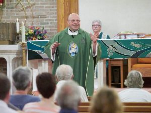 P7061119 copy 300x225 - Parishioners of Christ the Good Shepherd will write next chapter of the Church in Oswego, pastor says at parish's first weekend liturgy