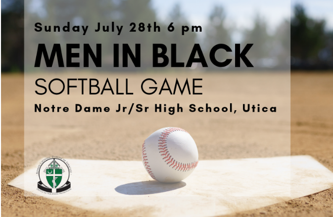 Bishop-elect Douglas J. Lucia to play in Men in Black softball game
