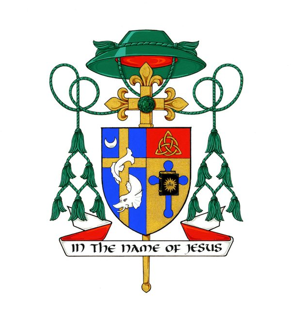 The Coat of Arms of Most Reverend Douglas J. Lucia, Bishop of Syracuse