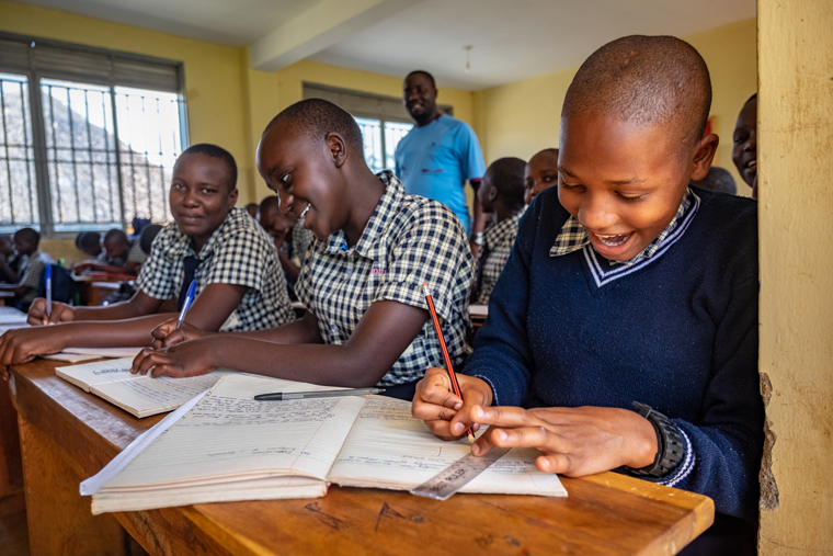 Endicott parishes create a bond  with students in Uganda