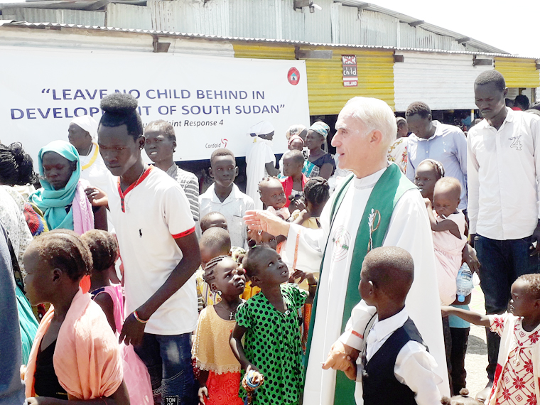 Father Bassano remains faithful to the displaced  people of South Sudan