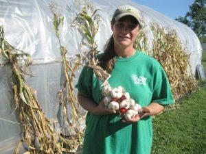 Jessi with garlic braid 300x225 - Jessi with garlic braid