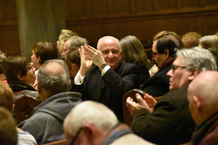 Father Clemente applauds - Cathedral Concert Series kicks off with power, emotion