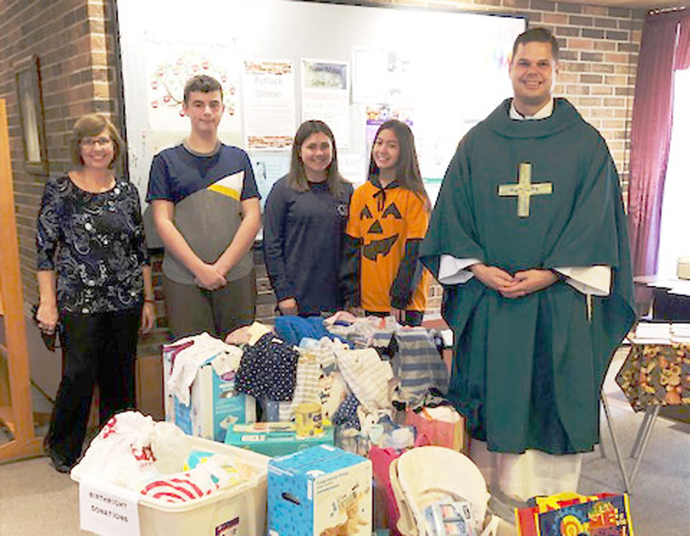 Liverpool parishes host baby shower