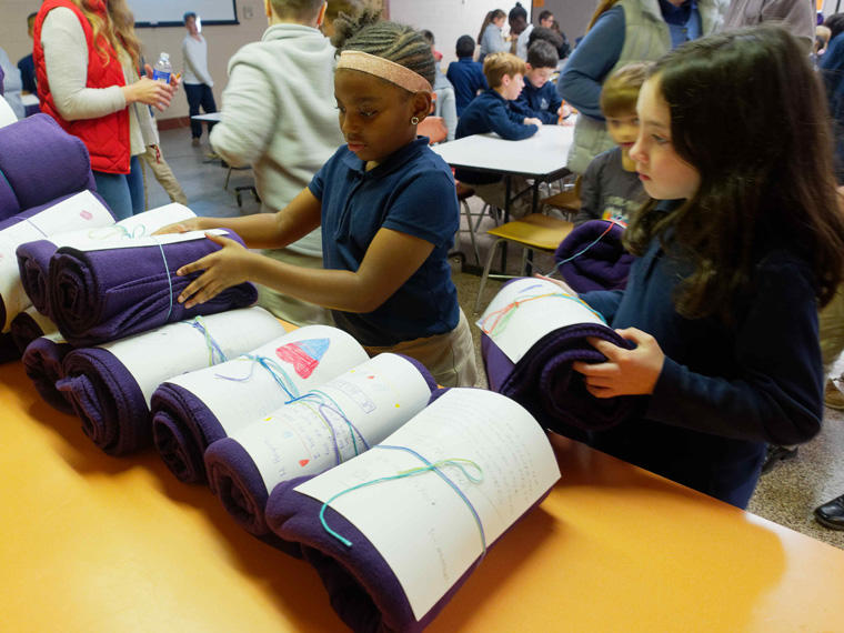 MHR students warm hearts with Blankets of Hope