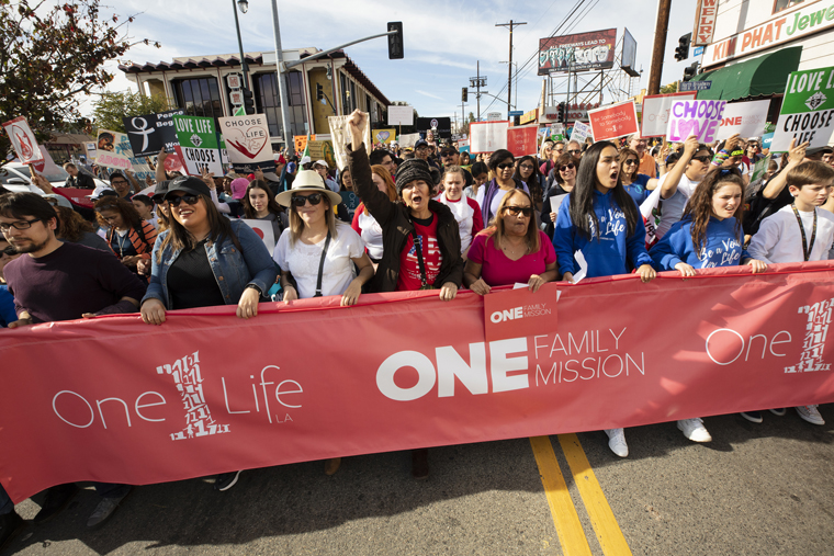 Redemption, beauty of the family emphasized at Los Angeles march for life