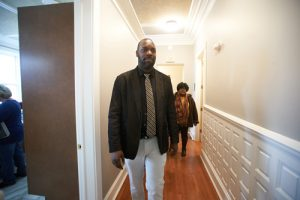 Grady walks in hallway 300x200 - Grady walks in hallway