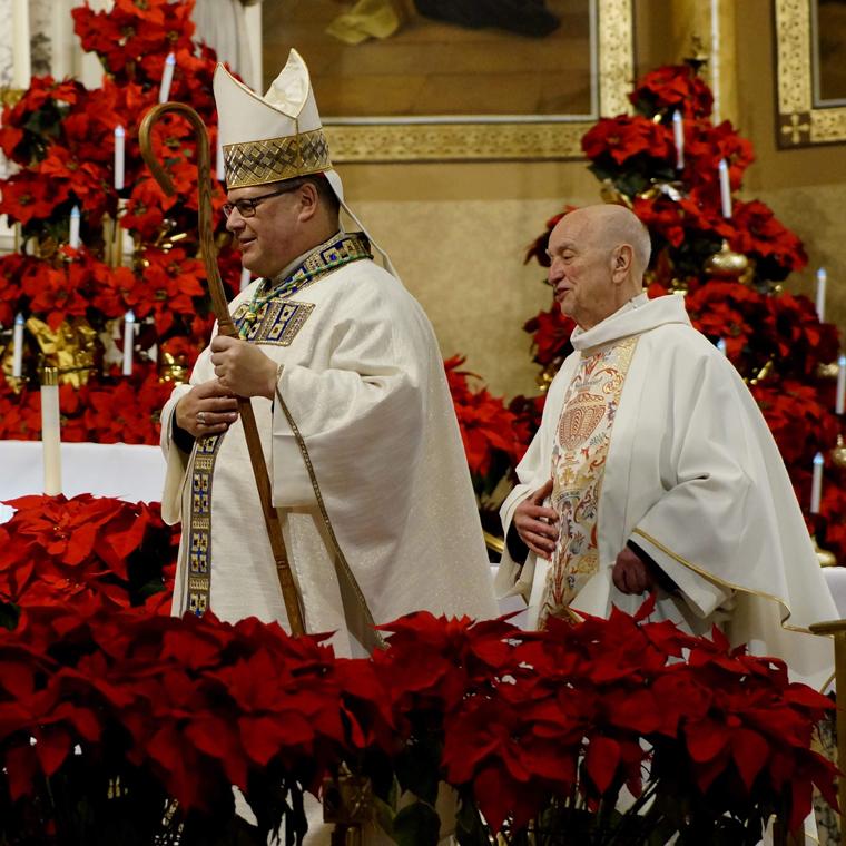 Bishop concelebrates Mass at refurbished Holy Trinity