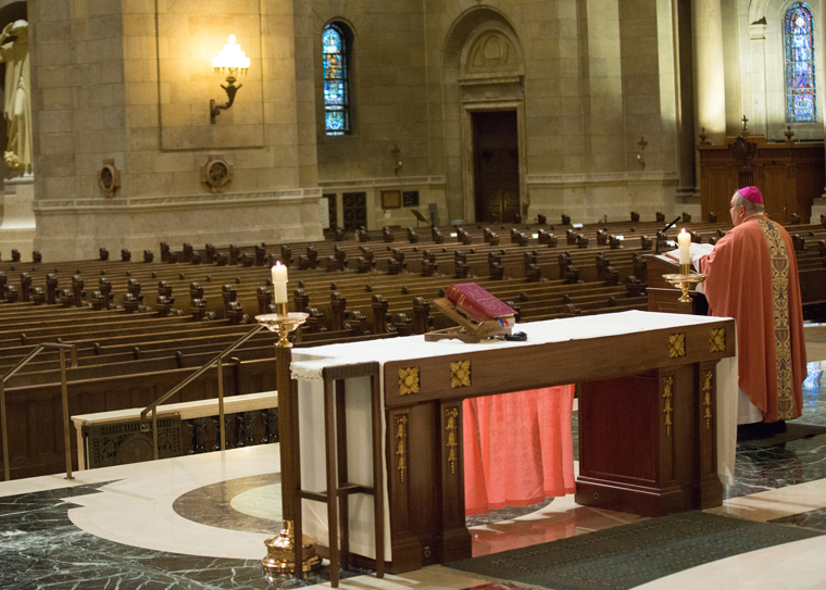 Priests: Celebrating Mass online with no congregants 'odd,' 'weird'