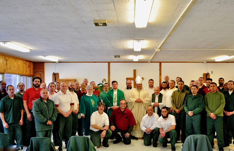 Bishop Lucia makes pastoral visit to Mohawk Correctional Facility