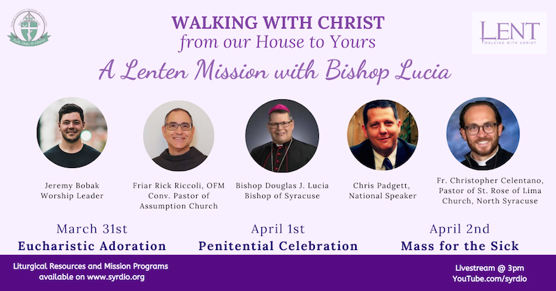 Diocese to offer livestreamed Lenten mission