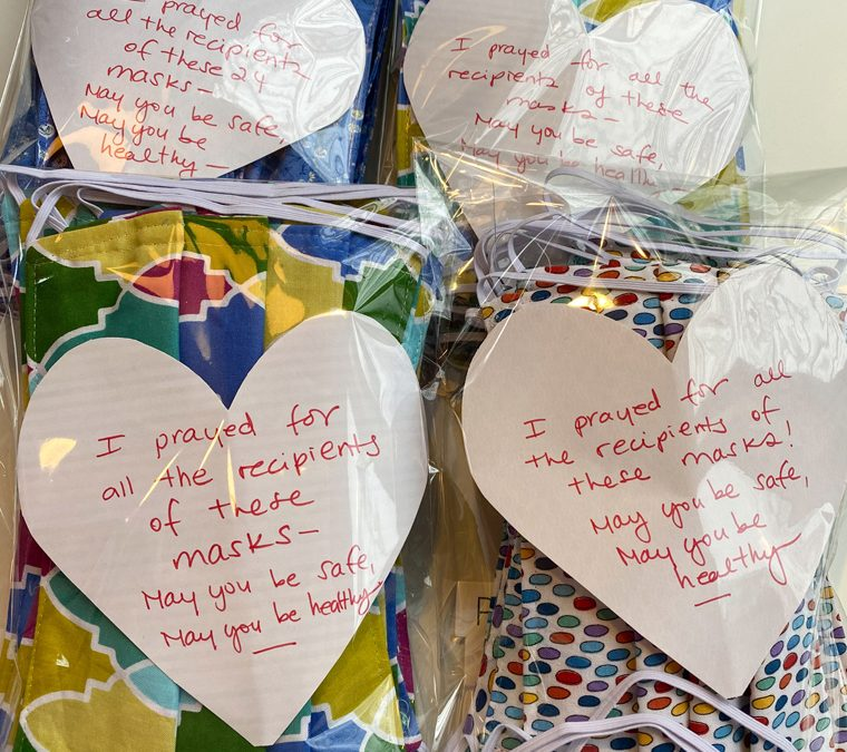 School nurses, crafters donate masks to medical professionals in need