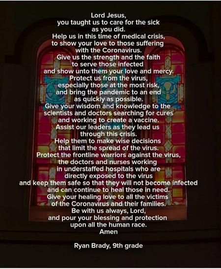 Ryan Brady prayer - Bright Spots: A poignant prayer