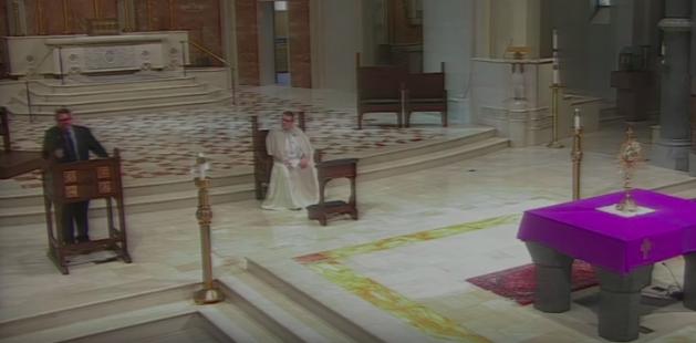 Hundreds view Day 1 of bishop's Lenten mission
