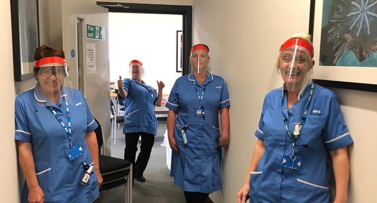 English Catholic school turns classrooms into workshops to make visors