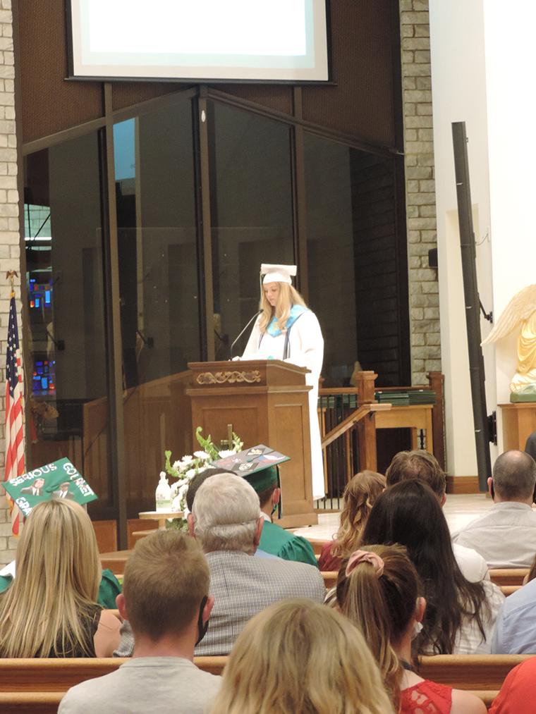 Lily Combs class pres - Congratulations,  Saints!