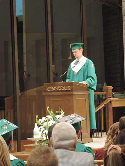 Wyatt Breese Val speech - Congratulations,  Saints!