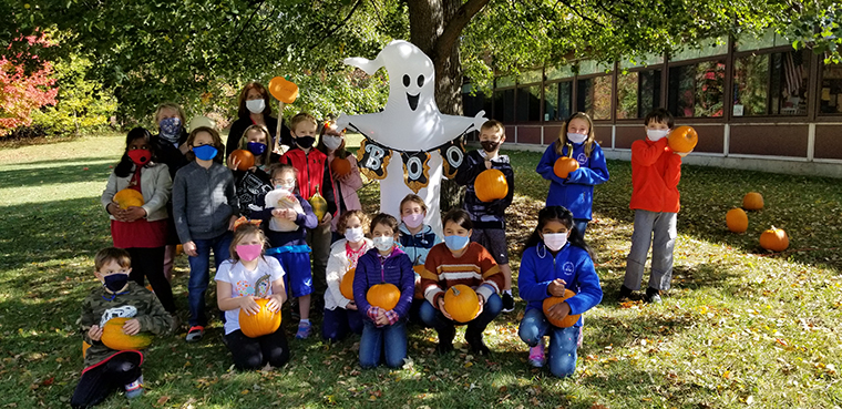 IC pupils glory in their pumpkin patch