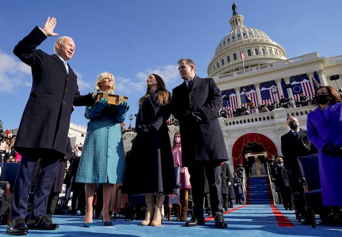 Biden's inaugural address calls for Americans to work for unity