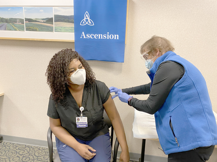 Dr. Jewel Jones Lourdes - Lourdes and UHS administer COVID-19 vaccines to  frontline caregivers