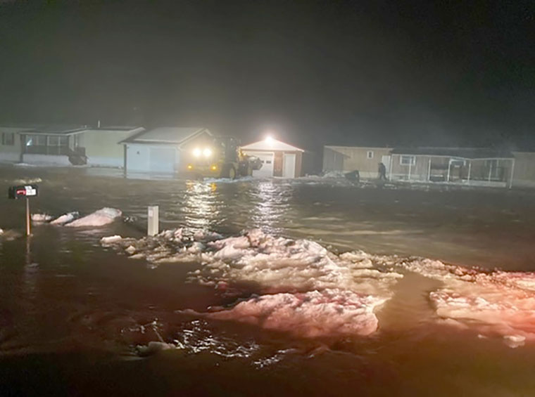 nighttime flooding - Christmastime emergency finds deacon dashing to help