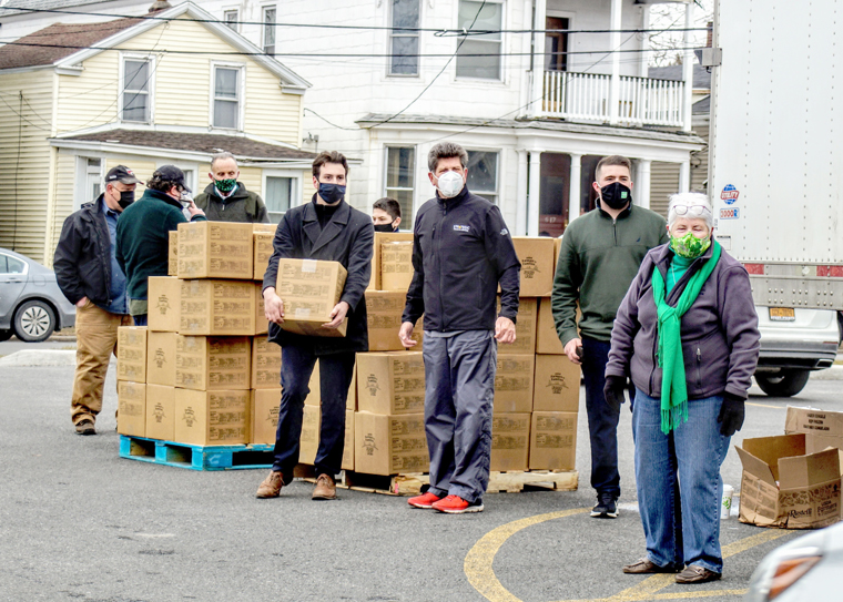 Massive St. Patrick's Day emergency food distribution in Utica