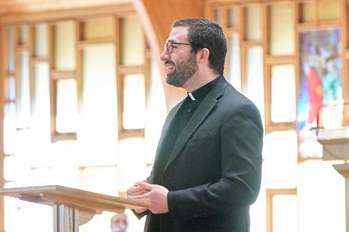 Father Hage at ignite color - IGNITE Catholic Men's Conference 'super-pumped' for faith