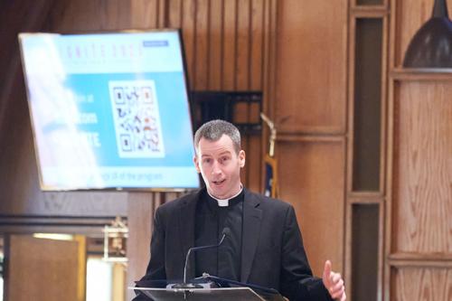 Father O Connor at ignite color - IGNITE Catholic Men's Conference 'super-pumped' for faith