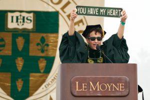 Linda Heart Sign 2021 300x200 - Le Moyne College at 75: AMDG