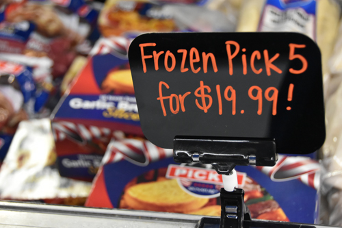 frozen foods - Brady Market 'counting on you'