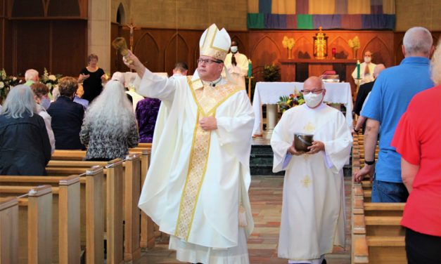 Bishop Lucia blesses congregation 627x376 - Home