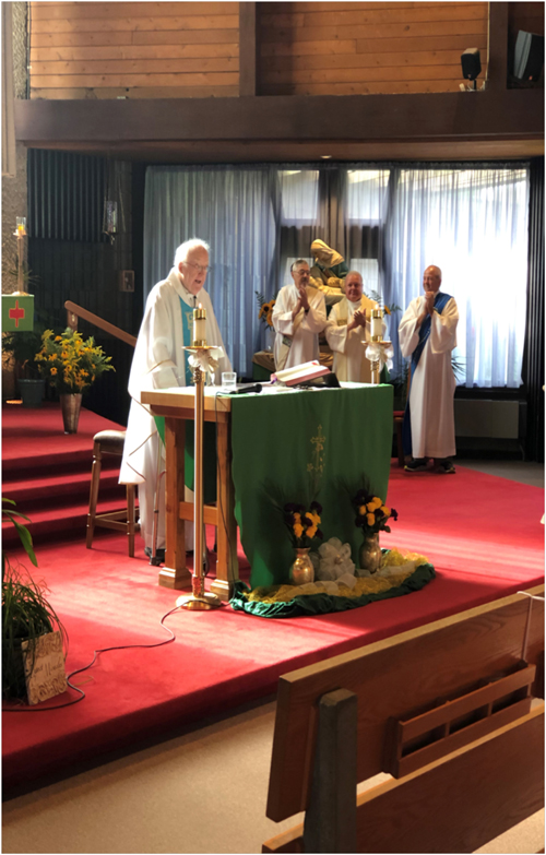 Untitled 2 - Father Cerwonka honored at Broome Mass for 60 years of service