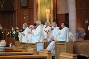 concelebrants at Blessed Sacrament 300x200 - concelebrants at Blessed Sacrament