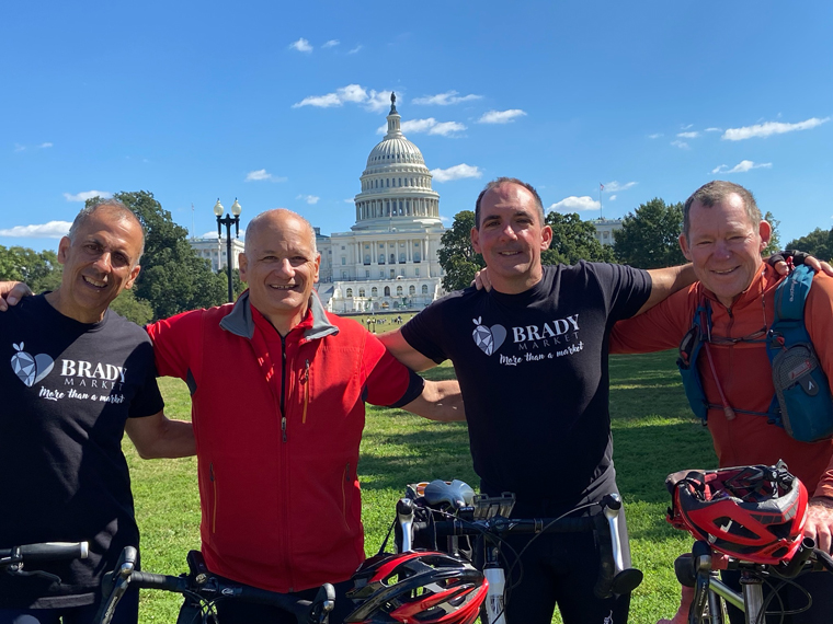 Brady bikers in D.C. - Get ready to buy winter crops at ever-busy Brady Farm