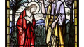 christbaptism 120x67 - CHRIST'S BAPTISM AT JORDAN RIVER DEPICTED IN STAINED-GLASS WINDOW