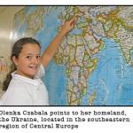 stjames olenka 150x150 2 - 001.jpgOLENKA CZABALA POINTS TO HER HOMELAND( Photo submitted )